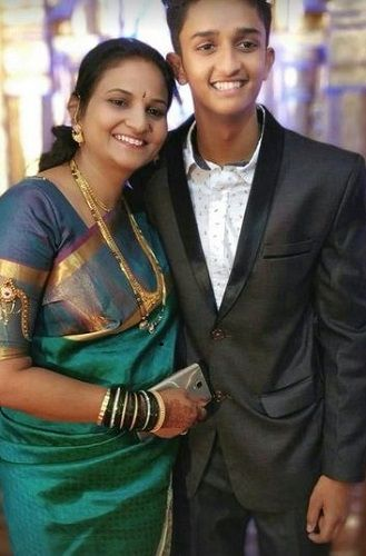 Vishwanath Haveri with his mother