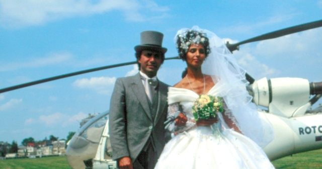 Wedding picture of Olivier Dassault with his first wife