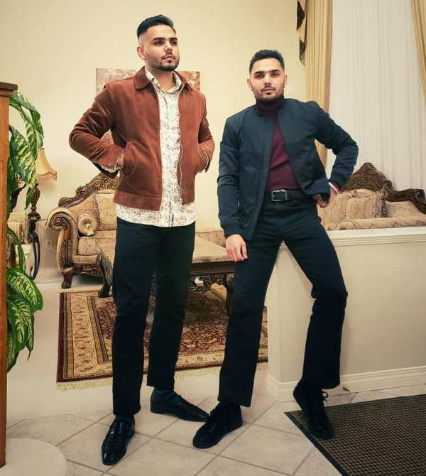 Prem Dhillon with his brother
