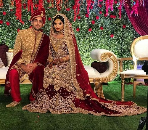 Afshan Azad's wedding picture