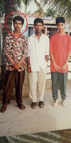 An old photo of Chakravarthy Chandrachud with his friends