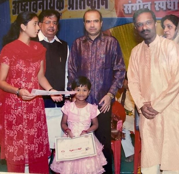 Anjali Gaikwad at the State level singing competition