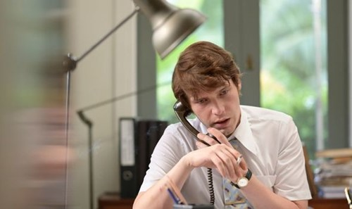 Billy Howle smoking in a scene for the show 'The Serpent'