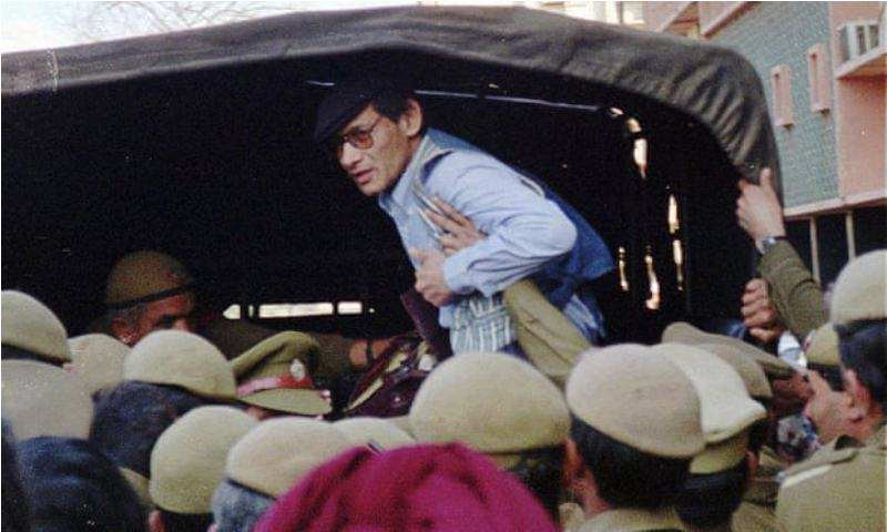 Charles Sobhraj after his release from Tihar Jail