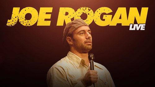 Cover poster of the comedy special Joe Rogan Live