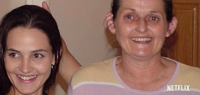 Crystal Theobald with her mother