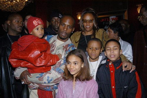 DMX with Tashera Simmons and their kids