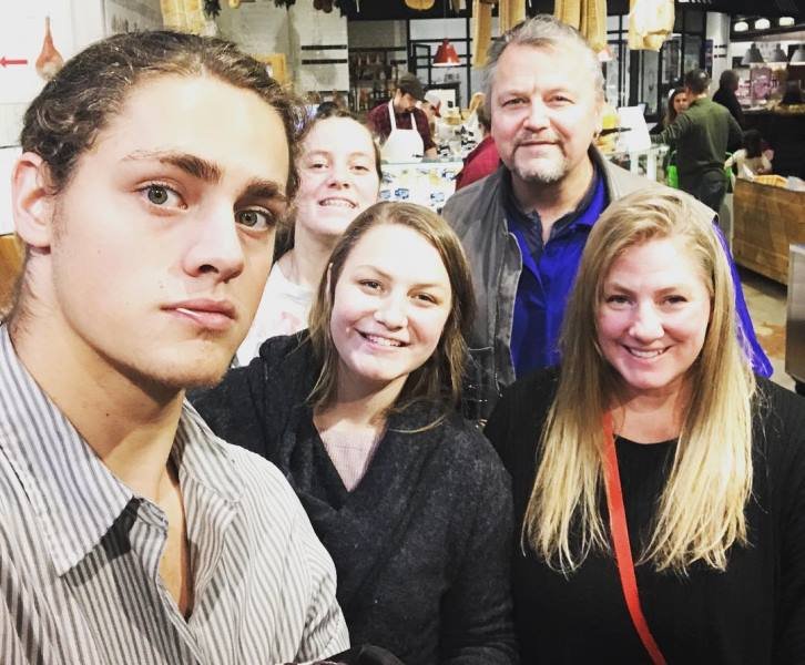 Fin Argus with his family