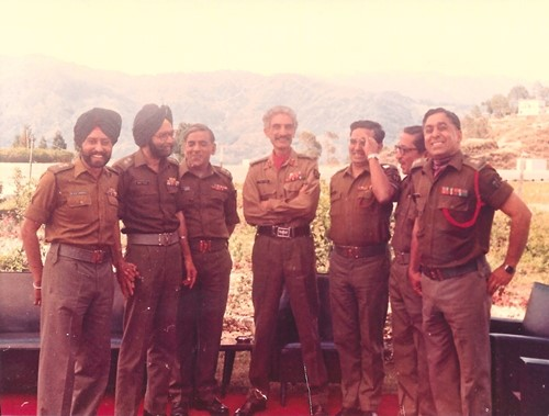 Hanut Singh (middle) with other soldiers of Poona Horse regiment