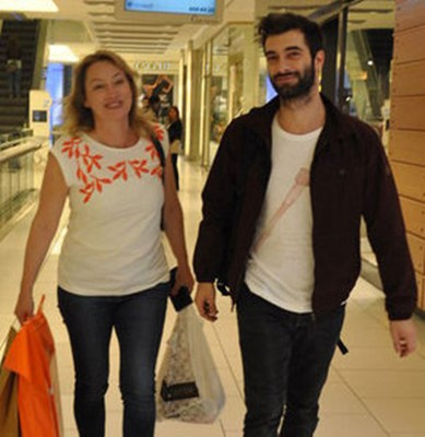 Ilker Kaleli with his mother