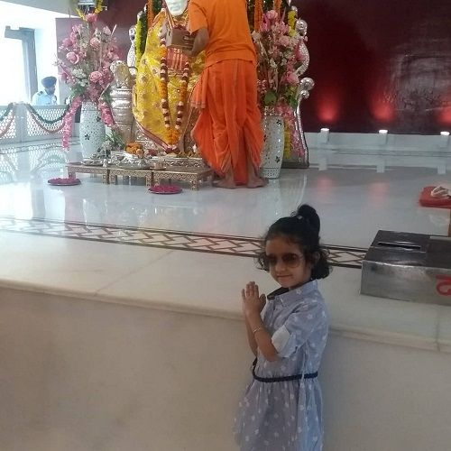 Inayat Verma in a temple
