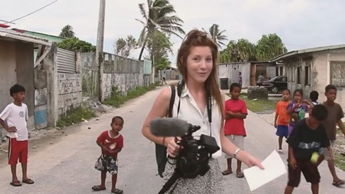 Kim Wall during one of her trips to cover a story