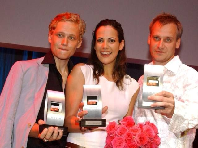 Matthias Schweighöfer with his New Faces Award