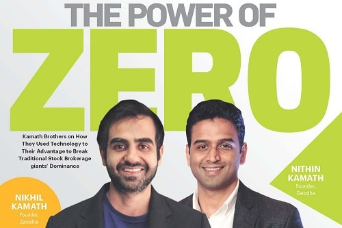 Nikhil Kamath and his brother featured on a magazine cover