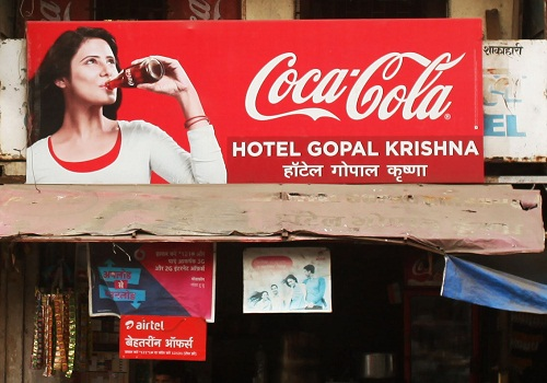 Onima Kashyap featured on the hoarding of Coca-Cola