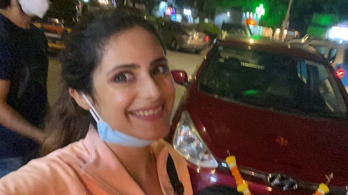Onima Kashyap with her car