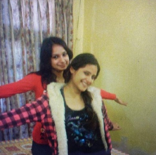 Onima Kashyap with her sister