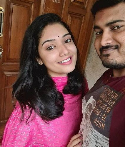 Priyanka Thimmesh with her brother