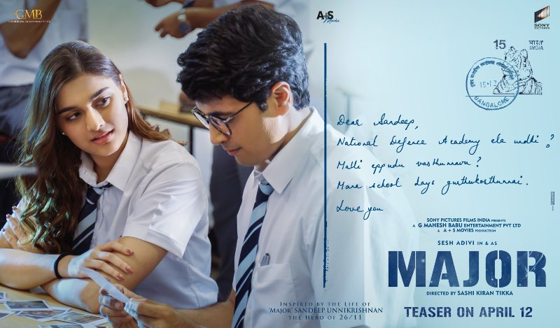 Saiee Manjrekar and Adivi Sesh in Sandeep Unnikrishnan's biopic Major