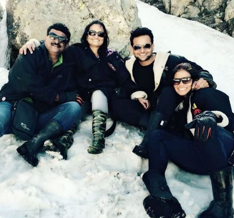 Sanket Bhosale with his family