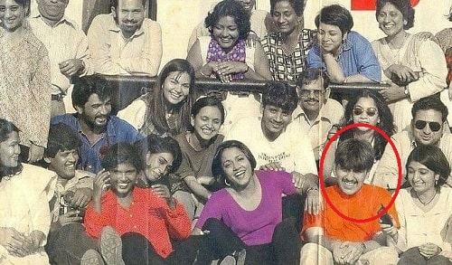 An old group photo of Rajeev Masand