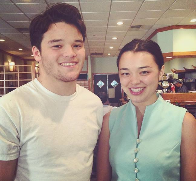 Midori Francis with her younger brother, Marcus Iwama