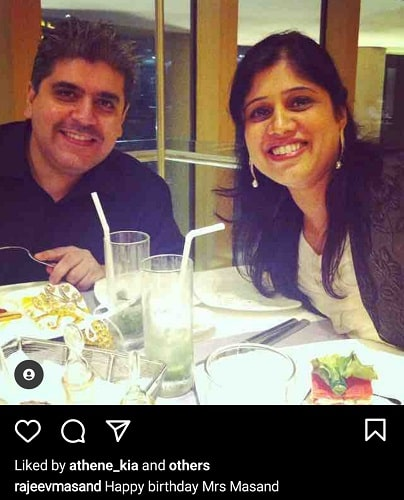 Rajeev Masand with his wife