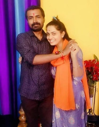 Shobha Shetty with her brother