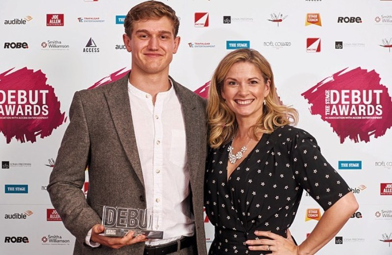 Adam Hugill at The Stage Debut Awards (2019)