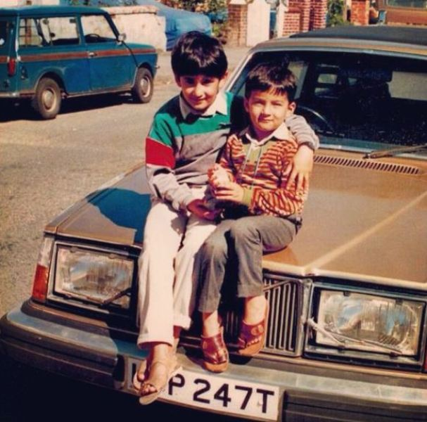 Ali Safina's (left) childhood picture with his brother (right)