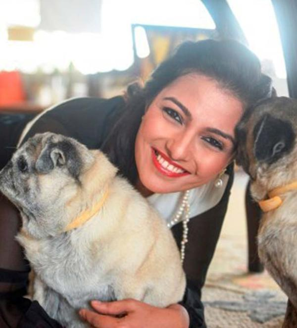 Ameera Shah with her pet dogs- Ginger and Lilo