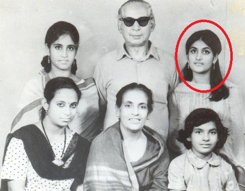An old picture of Nadira Babbar with her family