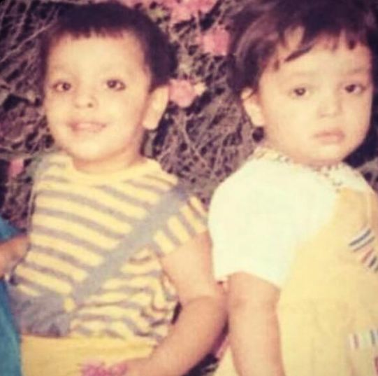 A childhood picture of Deepanshu Singh (left) with his sister