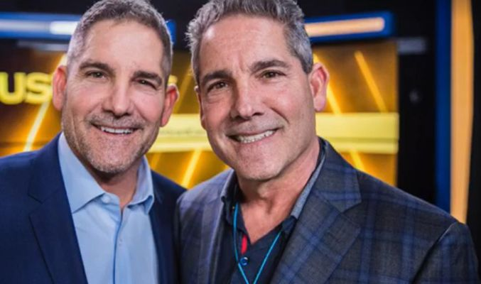 Grant Cardon with his twin brother, Gary Cardone
