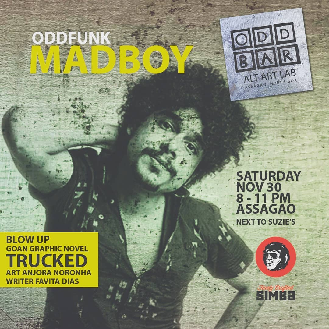Imaad Shah on an invitation cover page of a DJ event in India