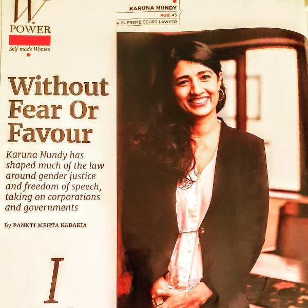 Karuna Nundy's interview published in a renowned magazine