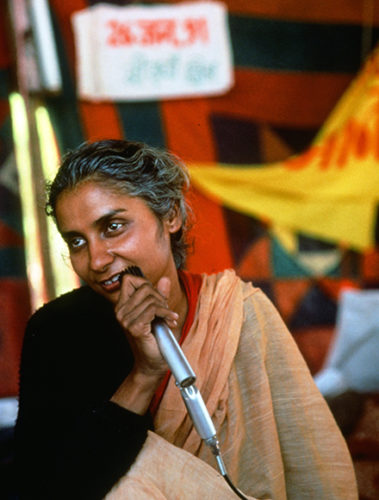 Medha Patkar while delivering the speech at The National Alliance of People's Movement