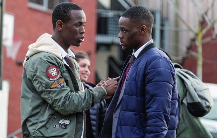 Micheal Ward (left) in Blue Story (2019)
