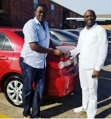 Muyiwa Ademola with his fan and car
