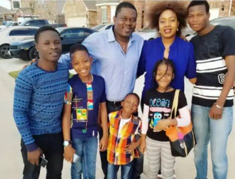 Muyiwa Ademola with his wife and children