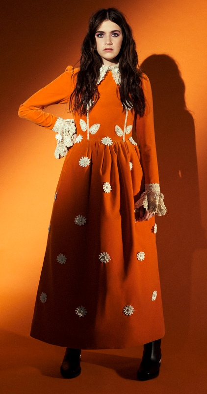 Nell Tiger Free wearing a Dress by Marc Jacobs