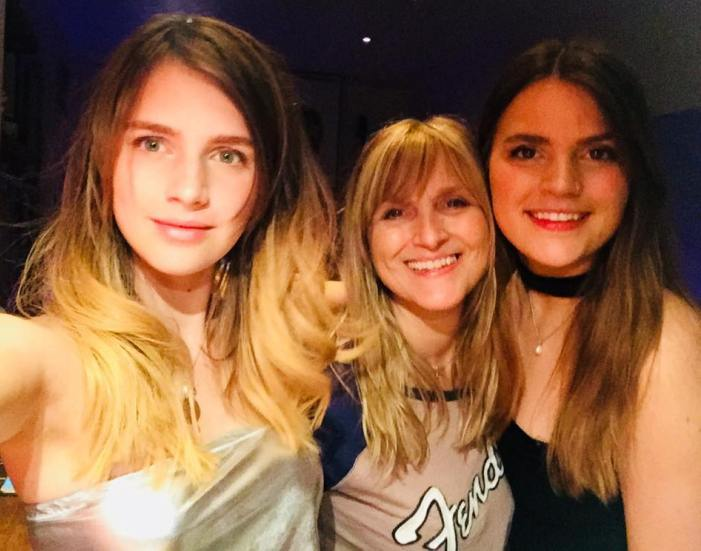 Nell Tiger Free with her mother and sister