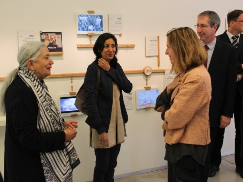 Novelists Anita Desai and Kiran Desai in Israel while attending an event