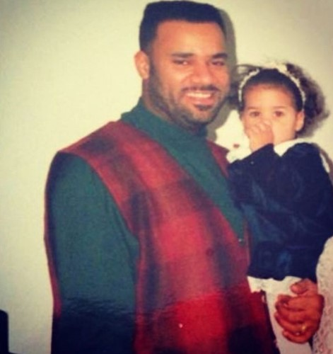Old picture of Alexi McCammond and her father