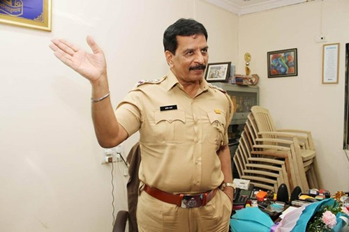 Pradeep Sharma in his office after his reinstatement