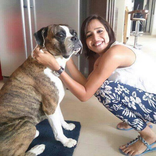 Seema Patil with her pet dog