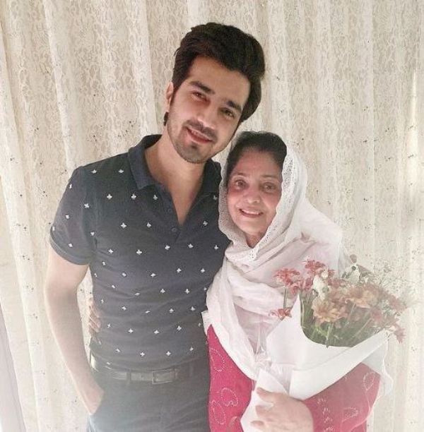 Shahzad Sheikh with his mother