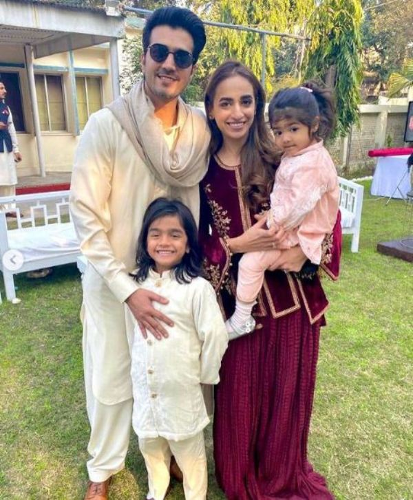 Shahzad Sheikh with his wife and children