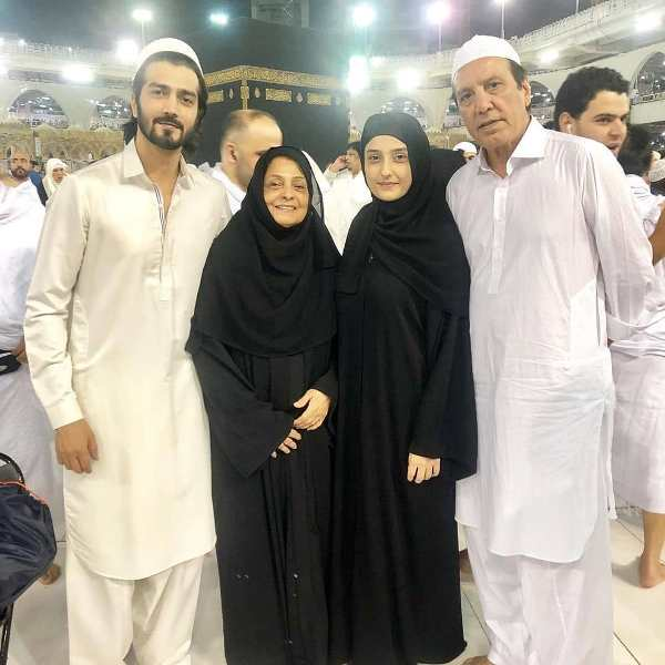 Shahzad Sheikh's picture along with his family at the holy place of Mecca