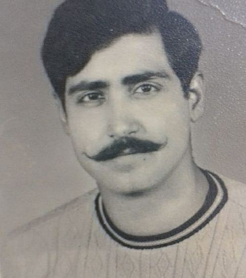 An old picture of Shreyansh Pandey's father